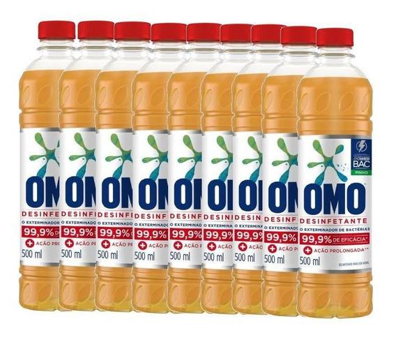 Omo Desinfetante Pinho 500ml - Kit Com 9