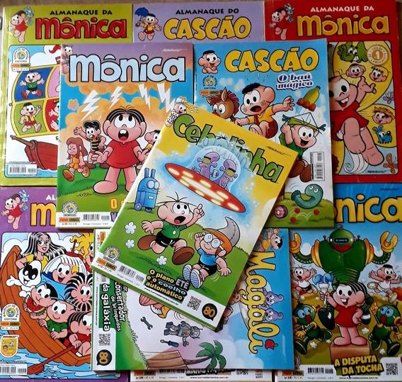 Kit Leitura 10 Gibis Turma Da Mônica Frete Grátis + Brinde