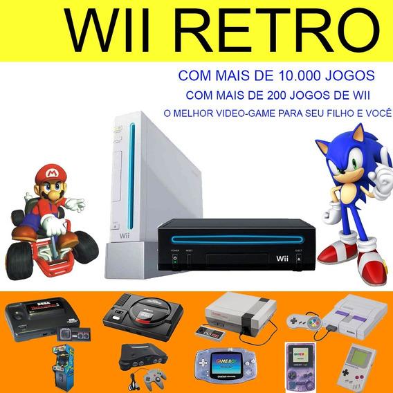 Nintendo Wii Retro Desbloqueado - +10000jogos - 110 Ou 220v