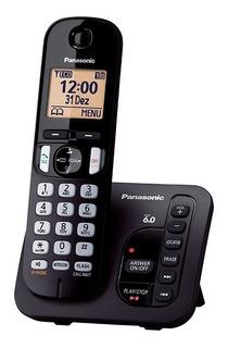 Telefone Sem Fio Panasonic Kx-tgc 220lbb Secretária Eletron