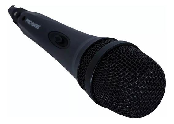 Microfone Vocal Com Cabo Pro Bass Promic500 Frete Grátis