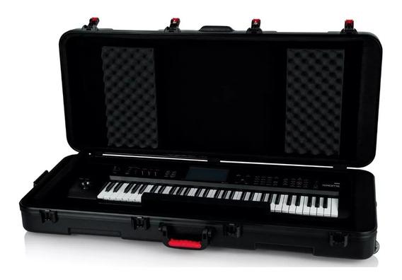 Estuche Piano Rigido Sintetizador Teclado Rack Maleta Rueda.