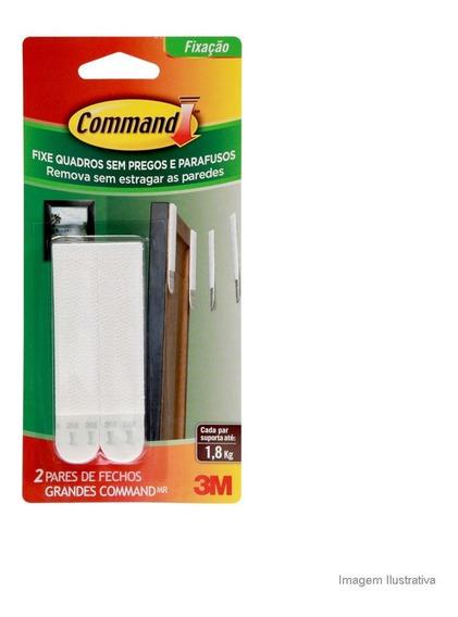 Fecho Adesivo Para Quadros Grande 4 Peças Plástico Branco 3m Command 3m