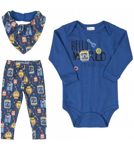 Imagem 1 de 6 de Conjunto Up Baby Menino Body Calça Bandana Envio Imediato 41