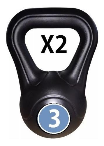 Pesa Rusa Kettlebell Pvc 3 Kg C/u X 2 Uds Fitness Mancuerna