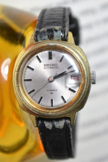 Relógio Feminino Seiko 2205-0240 Automático Couro