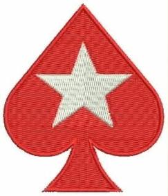 Patch Bordado Espada Do Poker Stars 7,5x6,5cm Aplique Gms28