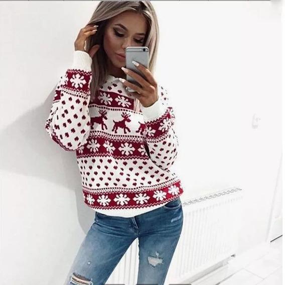 Suéter Navidad Mujer Sweater Xmas M/l