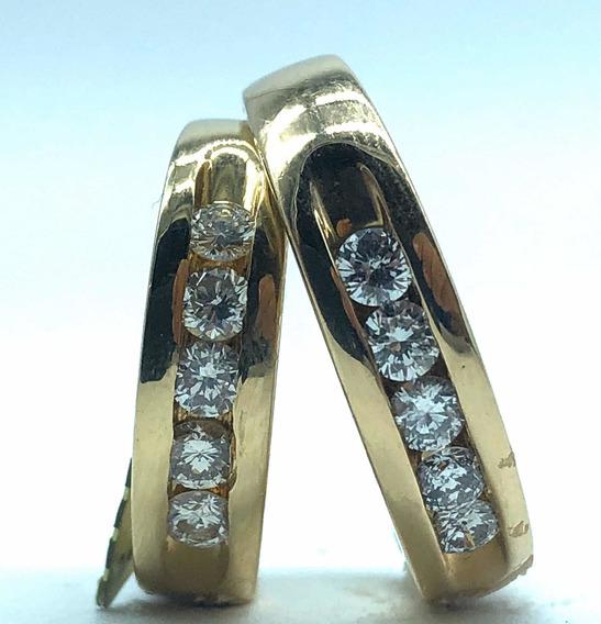 Argollas De Matrimonio 14k Diamante Natural Y Certificado