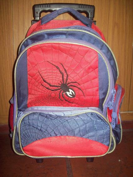 Mochila Escolar Con Carro Spiderman Usada Coghlan