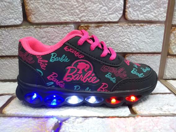 Tenis De Led Infantil Da Barbie Menina Promoção Personagem