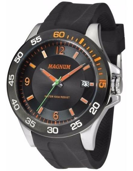 Relógio Magnum Masculino Ma33808j Aço Analogico