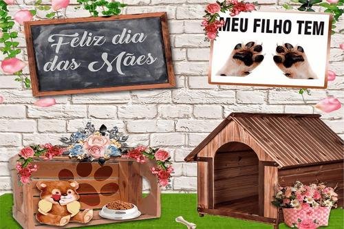 Painel De Festa Lona Dia Das Mães Cachorro Canino Dog