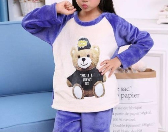 Pijama Niño Oso, Unisex (niño/niña), Tipo Polar Invernal