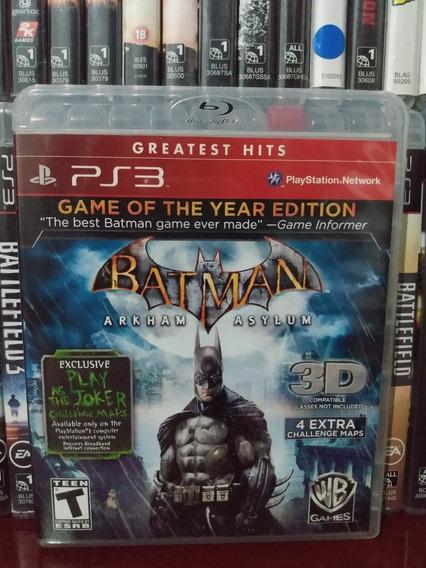 Batman Arkham Asylum Ps3 Física Sem Juros