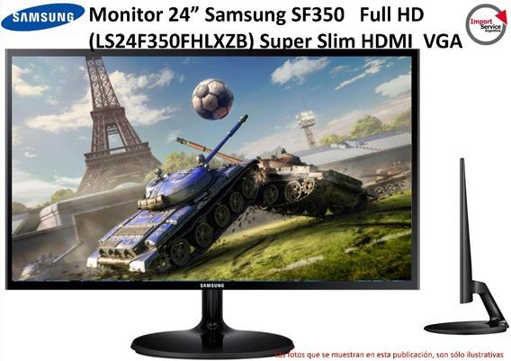 Monitor 24 Samsung Sf350 Full Hd(ls24f350fhlxzb) Super Slim
