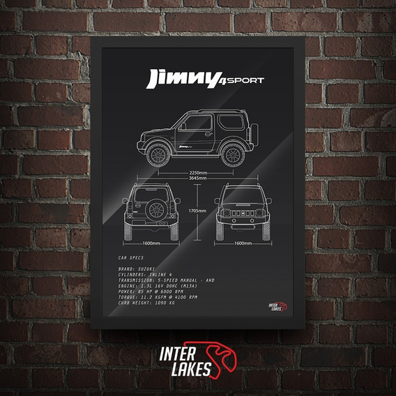 Suzki Jimny 4sport 2014 - Poster Carro Interlakes