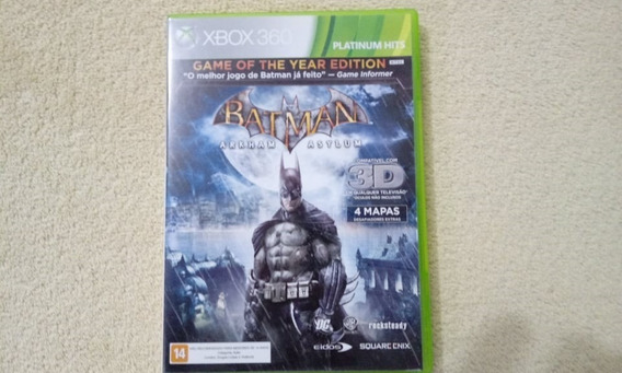 Jogo Batman Arkham Asylum Xbox 360 Original