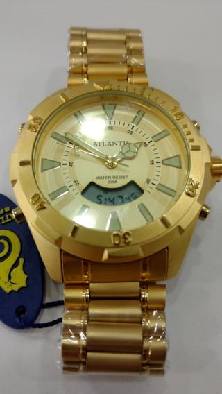 Relógio Original Atlantis Ana Digi Dourado Estil Technos Sky