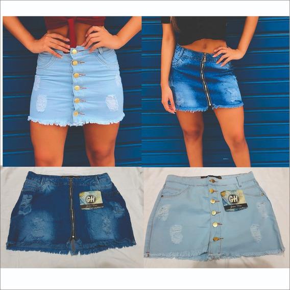 Kit 2 Mini Saias Jeans 100% Algodão