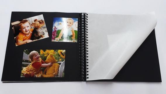Álbum De Fotos Scrapbook Grande 33x32 Prata Férias Casamento