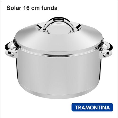 Caçarola Aço Inox Tramontina Solar Rasa 16 Cm 1,80 L