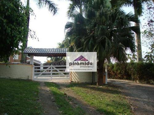 Chácara Com 3 Dormitórios À Venda, 1600 M² Por R$ 1.200.000,00 - Pedra D`água - São José Dos Campos/sp - Ch0037