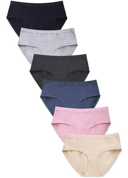Panty Americano Marca Mamia De Algodon Paquete Con 6 Pz