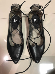 Zapatos Flats Negros Marca Bp