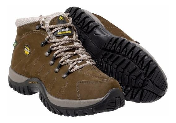 Bota Coturno Adventure Masculina Couro Legitimo Tchwm Shoes