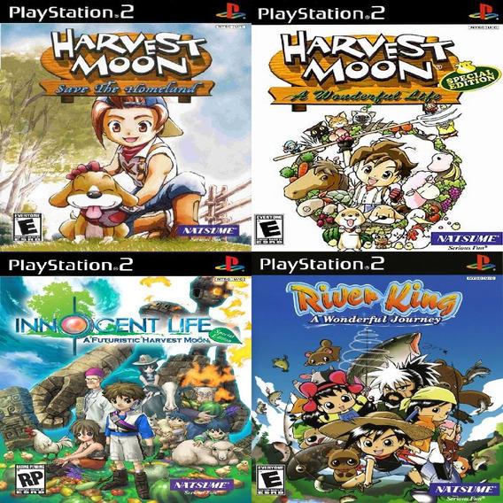 Promoção Coleção 4 Jogos Harvest Moon Ps2 Patch