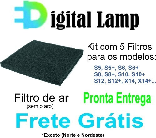 Filtro De Ar Projetor Epson - Kit 10 Unidades