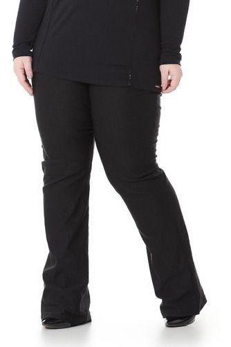 Calça Feminina Flare Pantalona De Bengaline Plus Size Ate G4