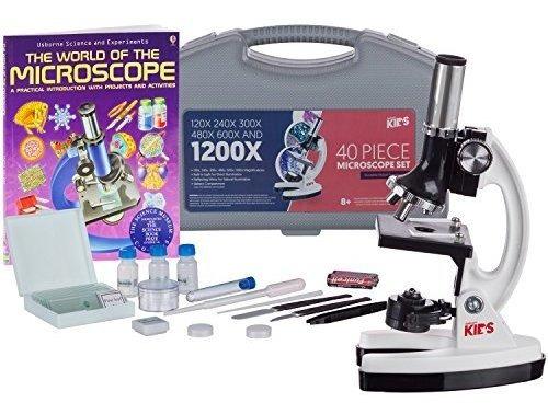 120x-1200x 48pc Brazo De Metal Kit De Microscopio Biológico