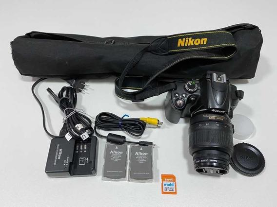 Câmera Nikon D5000 + Lente Dx 18-55 Mm + Tripé