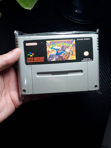 Fita De Super Nintendo Sunset Riders