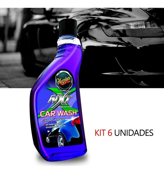 Kit 6 Shampoo Automotivo Wash Meguiars Nxt Generation G12619