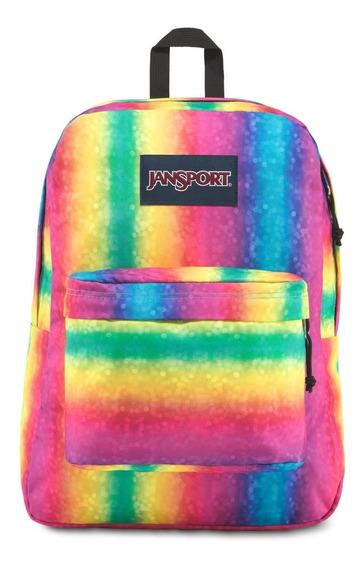 Zonazero Mochila Jansport Superbreak Rainbow Sparkle