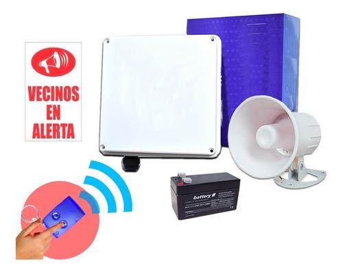 Kit Alarma Vecinal Inalambrica Barrial Casas Sirena Control