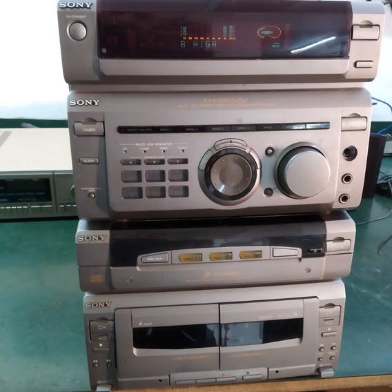 Micro System Sony Fh-w55av + Funcionamento Ok!!! + Garantia