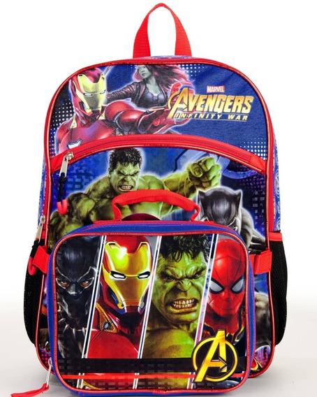 Combo Escolar Morral,lonchera Avengers