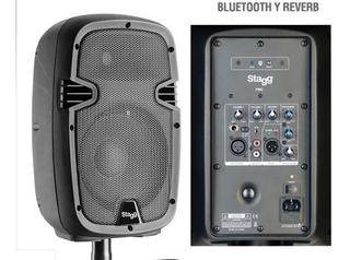 Bafle Potenciado Activo Stagg 270w 12 Bluetooth Pms12 Envio