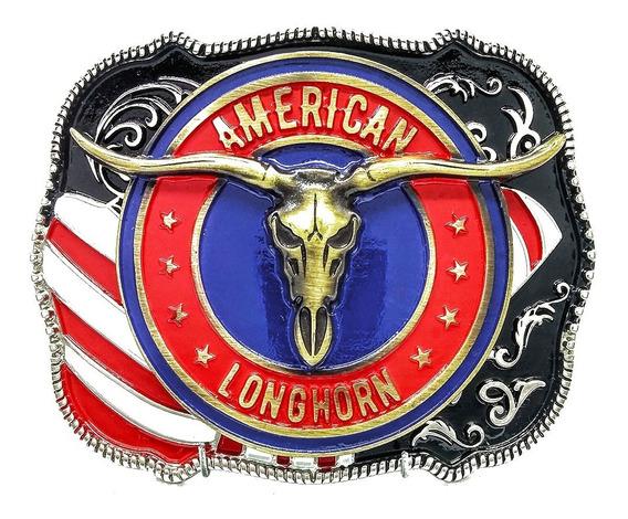 Fivela Country Texas Longhorn America Cowboy Rodeo - Oferta!