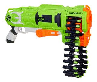 Pistola Nerf Hasbro E2156 Zombie Strike Ripchain 25 Dardos