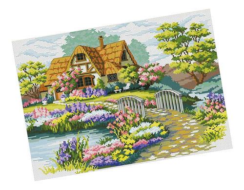Imagen 1 de 11 de Kit De Punto De Cruz Estampado Pre-impreso Kits De Bordado