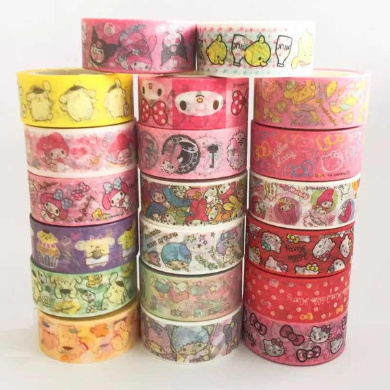 Washi Tape Fita Decorativa Hello Kitty Melody Twins Stars