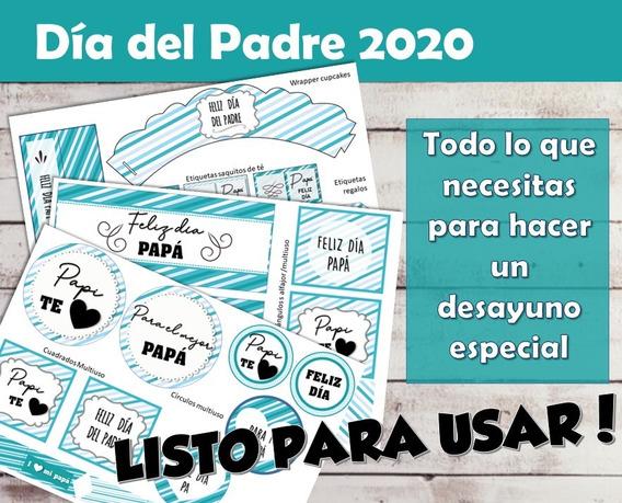 Kit Imprimible Desayuno Día Del Padre 2020