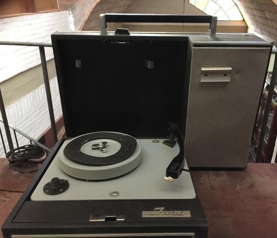 Antiguo Tocadisco Portatil Con Radio Jung Multikon