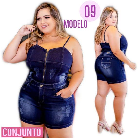 Conjunto Jeans (short + Blusa) Plus Size Com Lycra Reef. 11