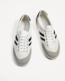 674aa8376 Zapatillas De Hombre Zara-deportivas Retro-nuevas Importadas